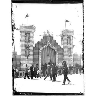 Giulio Pili - Cagliari, Piazza del Carmine, Esterno Fiera campionaria 1901