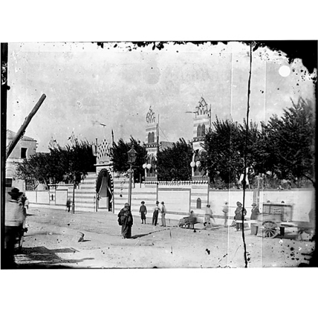 Giulio Pili - Cagliari, piazza del Carmine, Ingresso alla Kermesse delle Feste di Maggio, 1900
