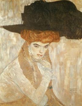 Gustav Klimt - Il cappello nero (1910)