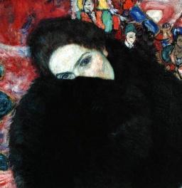 Gustav Klimt - Lady with a muff (1916)