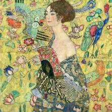 Gustav Klimt - Lady with Fan (1917)