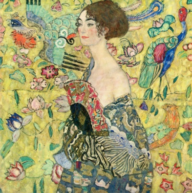 Gustav Klimt - Lady with Fan (1917)