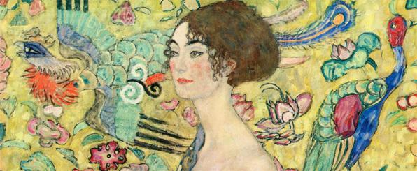 Gustav Klimt – Lady with Fan (1917) - dettaglio