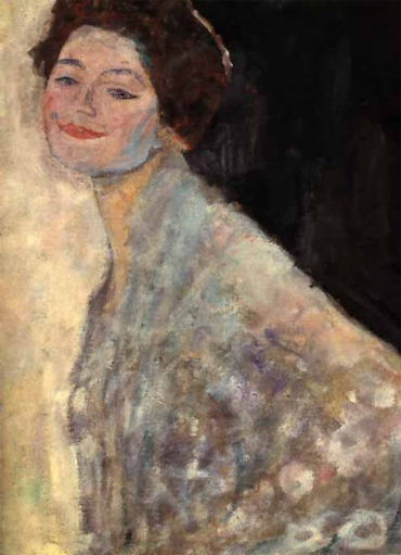 Gustav Klimt - Portrait of a Lady in white (unfinished) (1917)