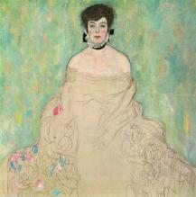Gustav Klimt - Portrait of Amalie Zuckerkandl (unfinished) (1917)