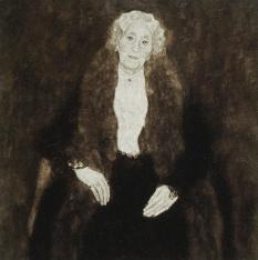 Gustav Klimt - Portrait of Charlotte Pulitzer (1916)