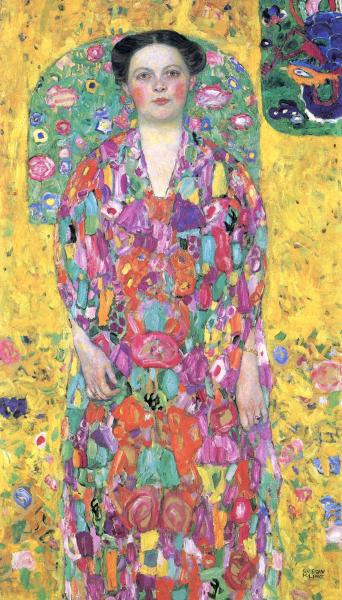 Gustav Klimt - Portrait of Eugenia Primavesi (1913)