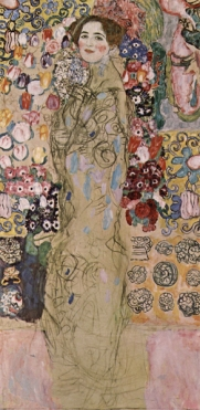 Gustav Klimt - Portrait of Ria Munk III (1918)