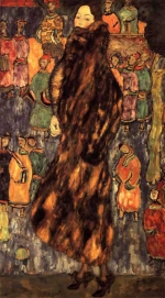 Gustav Klimt - The Polecat Fur (unfinished) (1916)