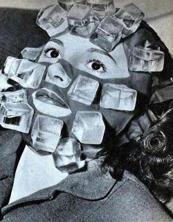 Maschera di cubetti di ghiaccio progettata per curare i postumi della sbornia, 1947