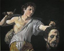 Marcello Rosas - David con testa di Golia - Copia Caravaggio