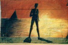 Marcello Rosas - Donna al tramonto (murale)