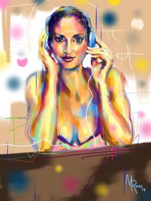 Marcello Rosas - Is music a woman (Pittura digitale su Ipad)