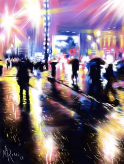 Marcello Rosas - La voce della luce (Pittura digitale su Ipad)