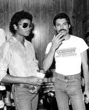 Michael Jackson e Freddie Mercury backstage al Forum di Los Angeles 1980