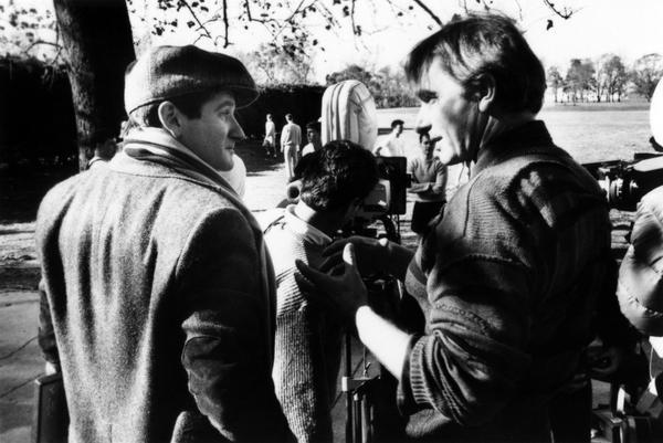 "Peter Weir e Robin Williams sul set di ""L'attimo fuggente"", 1989"