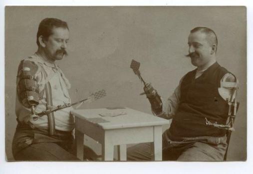 Soldati e protesica, Prima guerra mondiale