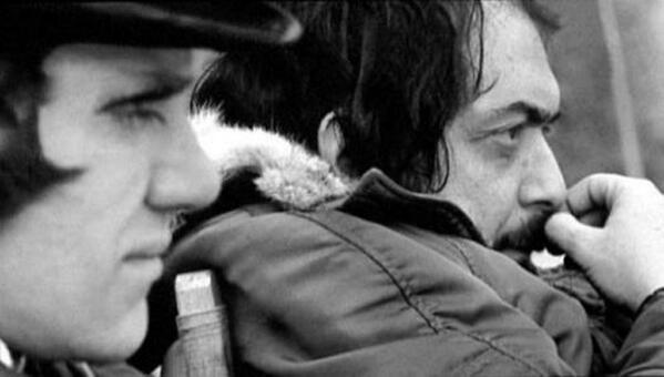 Stanley Kubrick sul set di Arancia Meccanica, 1971