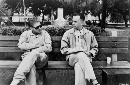 Tom Hanks e Robert Zemeckis sul set di Forrest Gump