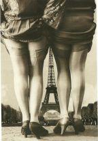 Cartolina vintage parigina, 1920