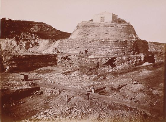 Vittorio Besso - Bacu Abis, miniera carbonifera dell'Ing. Roux, la polveriera, 1887 ca