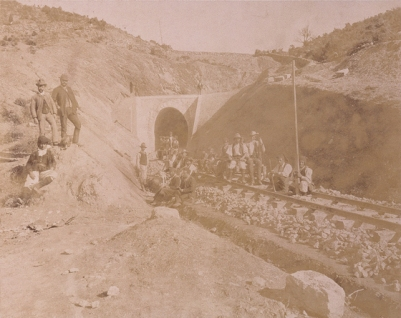 Vittorio Besso - Ferrovie Secondarie della Sardegna, Imbocco Isili, Galleria Meana, 1888 ca