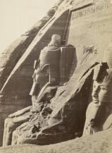 Abu Simbel in Nubia, nel sud dell'Egitto, 1860, foto di Francis Frith