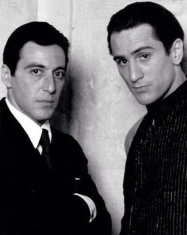 Al Pacino e Robert De Niro '72