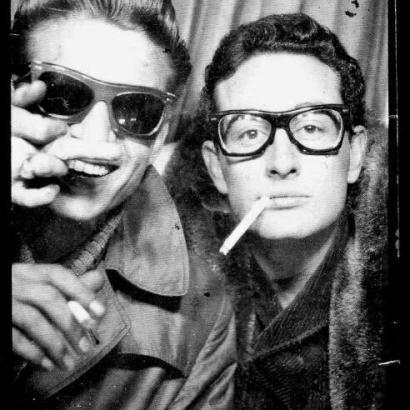 Buddy Holly e Waylon Jennings, Grand Central Station, New York c. 1959