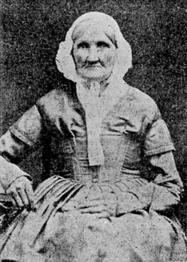 Hannah Stilley, nata nel 1746, fotografata nel 1840. Più che probabile che sia il primo individuo catturato in una foto