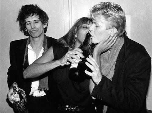 Keith Richards, Tina Turner e David Bowie
