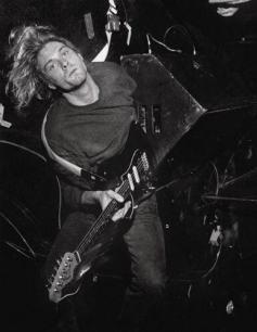 Kurt Cobain nel suo habitat naturale