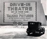 Primo teatro drive-in a Los Angeles (e in California), 1935