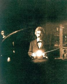 Mark Twain nel laboratorio di Tesla