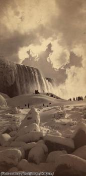 Cascate del Niagara ghiacciate, 1883