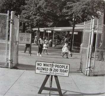 Nessun uomo bianco ammesso allo zoo oggi, 1950
