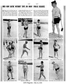 La gente non era contenta che gli uomini facessero topless in spiaggia nel 1930