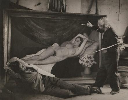 Picasso posa come l'Artista con Jean Marais come modello
