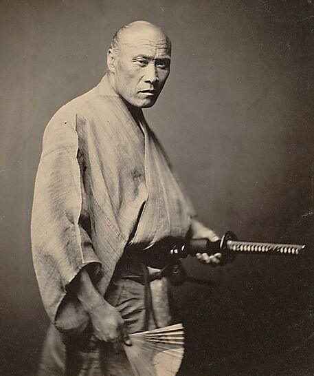 Samurai, 1866. Fotografia di Felice Beato