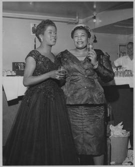 Sarah Vaughan e Ella Fitzgerald, ca. 1950