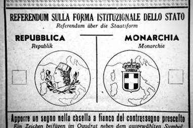 Scheda elettorale referendum giugno 1946