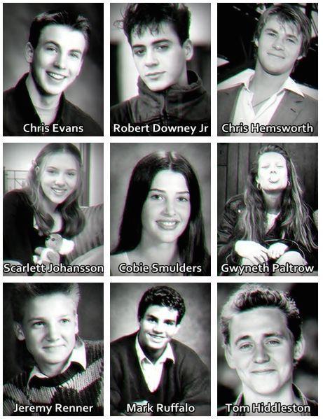 The Avengers - Cast quando erano giovani
