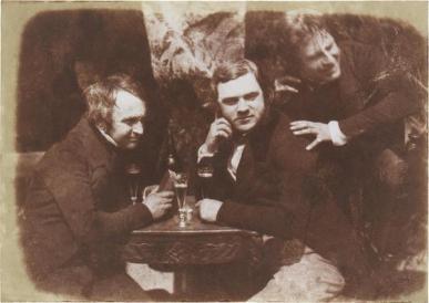 La prima fotografia conosciuta di uomini che bevono birra. Edinburgh Ale 1844