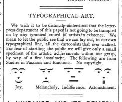 Emoticon vittoriane, 1800
