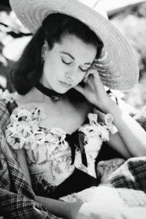 Vivien Leigh dorme sul set di Via col vento (1939)