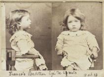 1893 foto segnaletica di François Bertillon, figlio di Alphonse Bertillon, che ha standardizzato le foto segnaletiche