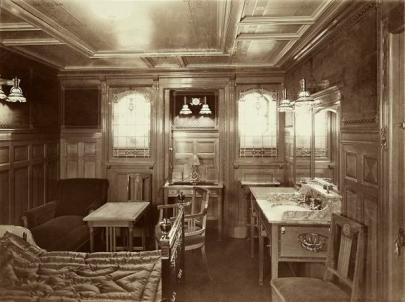 """Camera di 1 ° Classe sul """"Titanic"""" (Inghilterra - Marzo 1912)"""