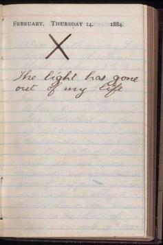 """""""La luce è andata via dalla mia vita"""" - diario di Theodore Roosevelt, 14 feb 1884, il giorno in cui sua moglie e sua madre morirono"""