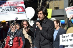 Aaron Swartz parla contro SOPA/PIPA a New York il 18 gennaio 2012
