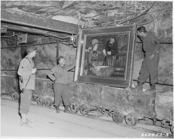 I soldati americani scoprono un Manet che era nascosto nel bottino nazista 1945